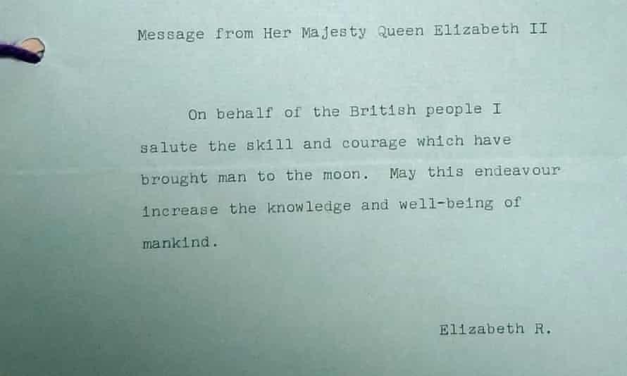 Queen Elizabeth II's message to the moon