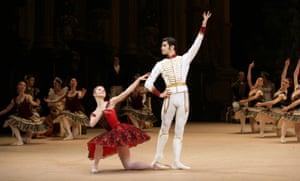 Anzhelina Vorontsova and Nikolay Tsiskaridze perform at the Bolshoi theatre in Moscow.