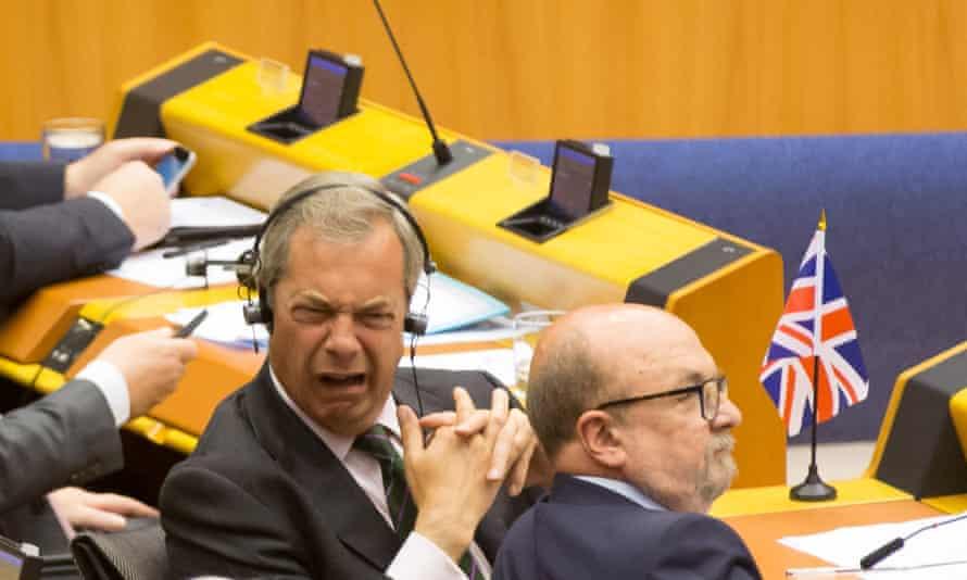 Nigel Farage in European parliament