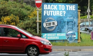 An anti-Brexit sign on the outskirts of Newry before the referendum in June.
