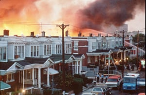 Philadelphia burn after officials dropped a bomb on the Move house in 1985.