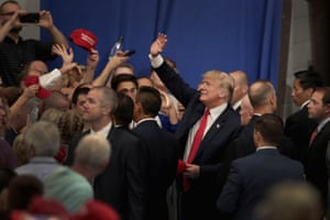 Donald Trump at a rally in support of Troy Balderson.