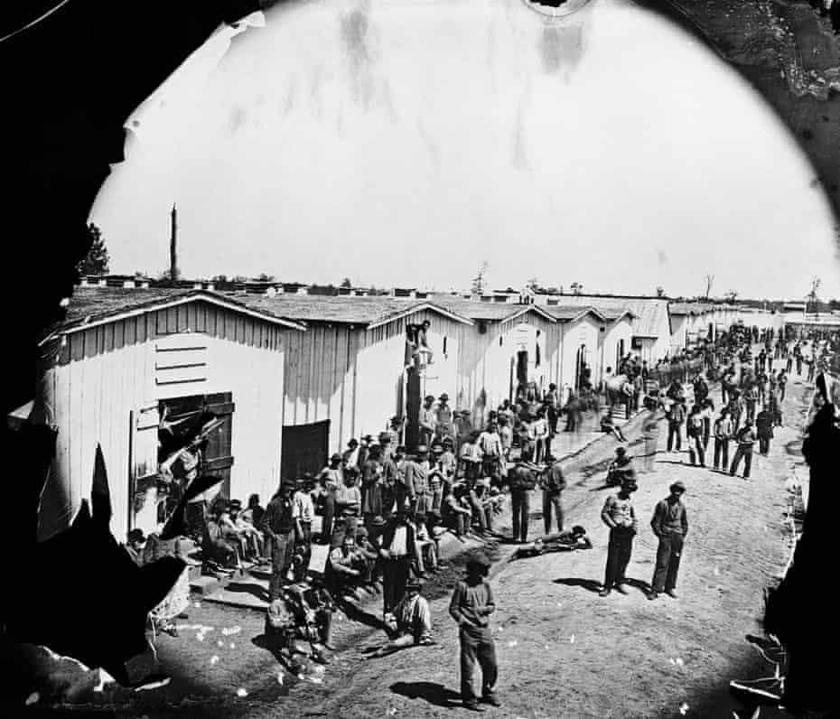 Confederate prisoners during the American civil war