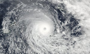 A 19 February Nasa satellite image of Cyclone Winston in the Pacific.