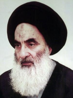 Undated file photo of Iraq's most revered Shia cleric, Ayatollah Ali al-Sistani