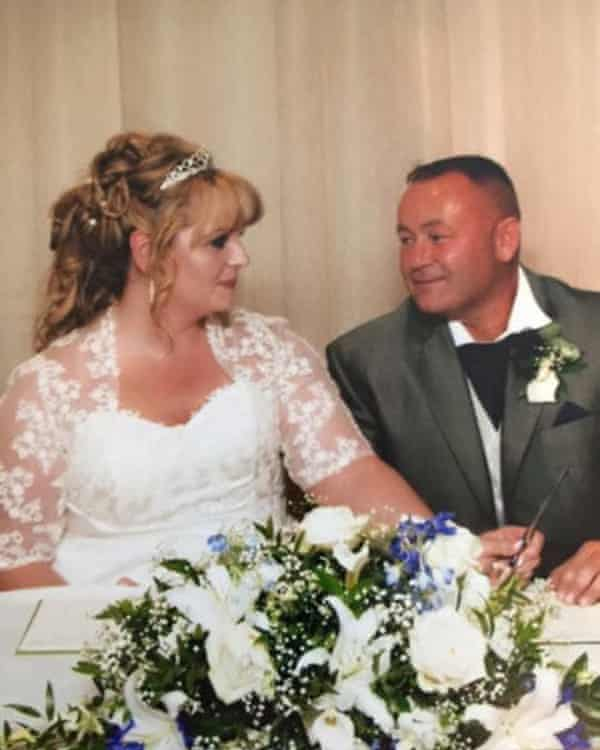James and Michelle's wedding … 'I don't know if he was crying because he was getting married or not! He was an emotional wreck.'