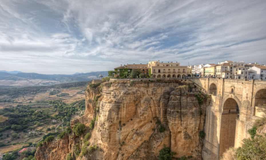 Stunningly situated Parador de Ronda, Andalucía, Spain.