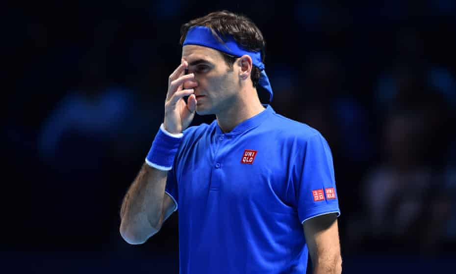 Roger Federer was beaten by Kei Nishikori in the ATP World Tour finals at the O2 Arena