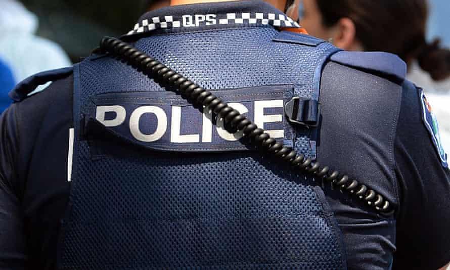 A police officer in Brisbane