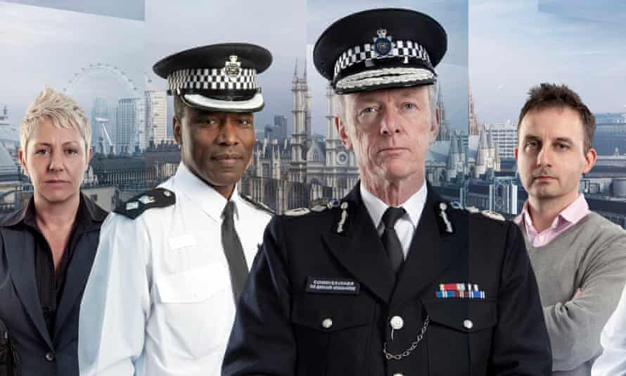 BBC Publicity POster (L-R) : Detective Sergeant Tracey Miller, Chief Superintendent Victor Olisa, Commissioner Sir Bernard Hogan Howe and Detective Sergeant Bob Dolce