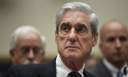 Robert Mueller in July last year. Andrew Weissmann said Mueller and a senior deputy, Aaron Zebley, were cowed by the power of the Trump presidency.