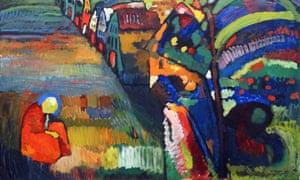 A detail from Painting with Houses (1909) by Wassily Kandinsky.
