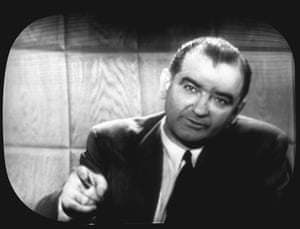 Joseph McCarthy speaks on the CBS news program See It Now with Edward R Murrow, April 1954.