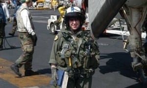 Eve Hurwitz on the USS Enterprise while serving in the Navy