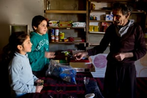 Mohammad Raabah, 71, has lived in this disused building in Zahle for over two years