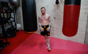 Carl Frampton in the gym.