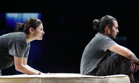 Adam Kashmiry and Neshla Caplan in Adam at the Traverse theatre.