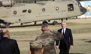 James Mattis arrives at the Resolute Support mission headquarters in Kabul