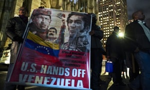 Protestors rally in support of Venezuelan president Nicolas Maduro