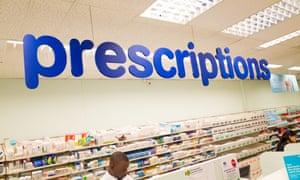 A prescriptions counter at Boots