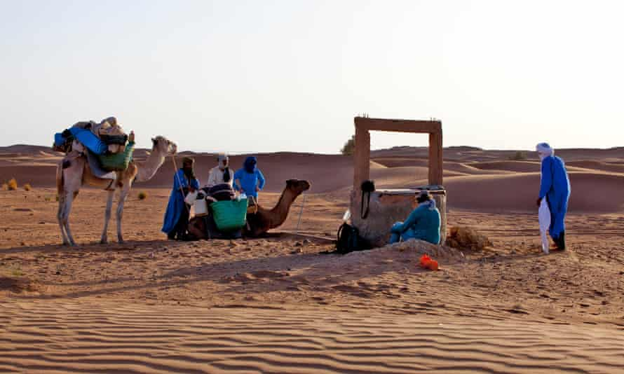 A water well in the Sahara Desert.