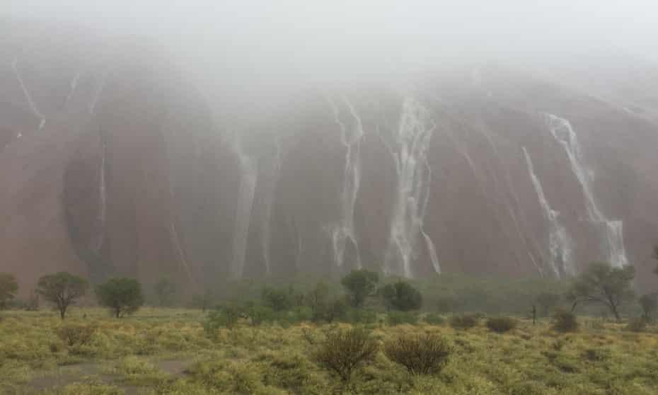 Rain at Uluru