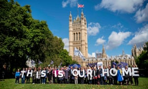 A protest outside the Palace of Westminster in London