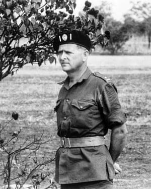 Mike Hoare in uniform in the Democratic Republic of Congo in 1964.