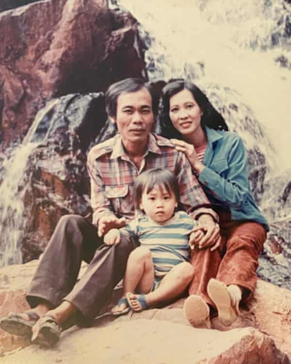 Tien Pham and his parents in Ho Chi Minh City before moving to the United States.