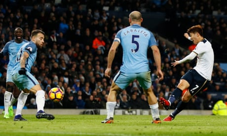 Son Heung-min strikes to salvage draw for Tottenham at Manchester City