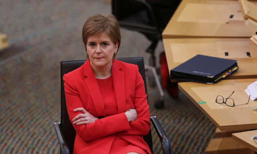 Nicola Sturgeon during First Minister's Questions at the Scottish parliament on Thursday.