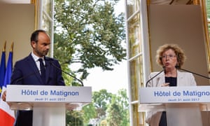 Edouard Philippe and Muriel Pénicaud give a press conference