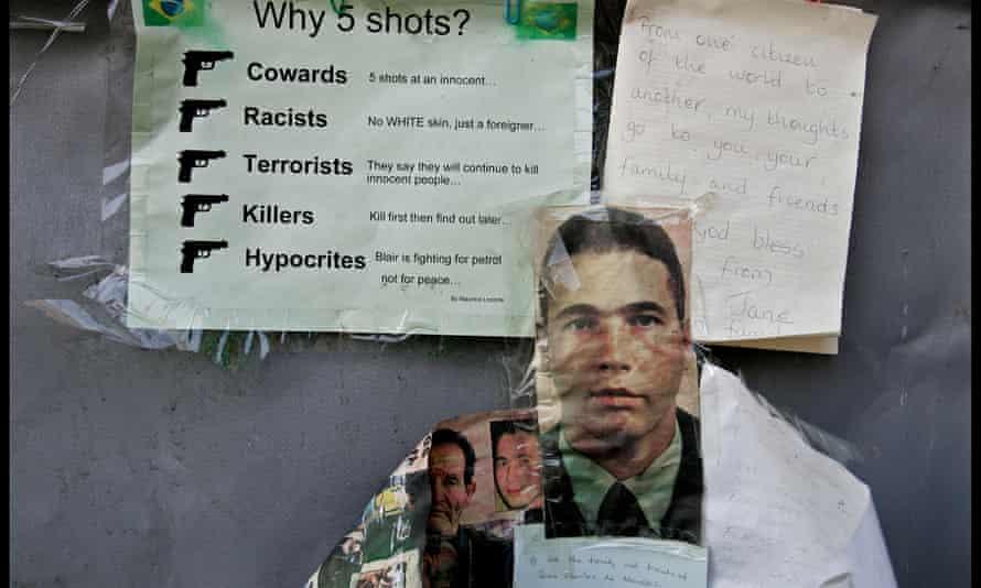 Tributes to Jean Charles de Menezes left outside Stockwell tube station