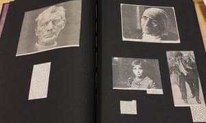 Beckett, Mother Teresa, Lollobrigida, Kitt - page from Jane Bown's scrapbook GNM archive ref: JHB/6/5