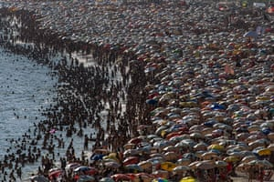 Ipanema beach in Rio de Janeiro, Brazil, on 4 January 2014