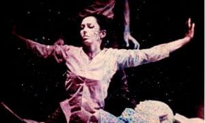 Carolee Schneemann in a performance of Snows, 1967.