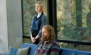 Alison Pill and Nick Offerman in Devs.