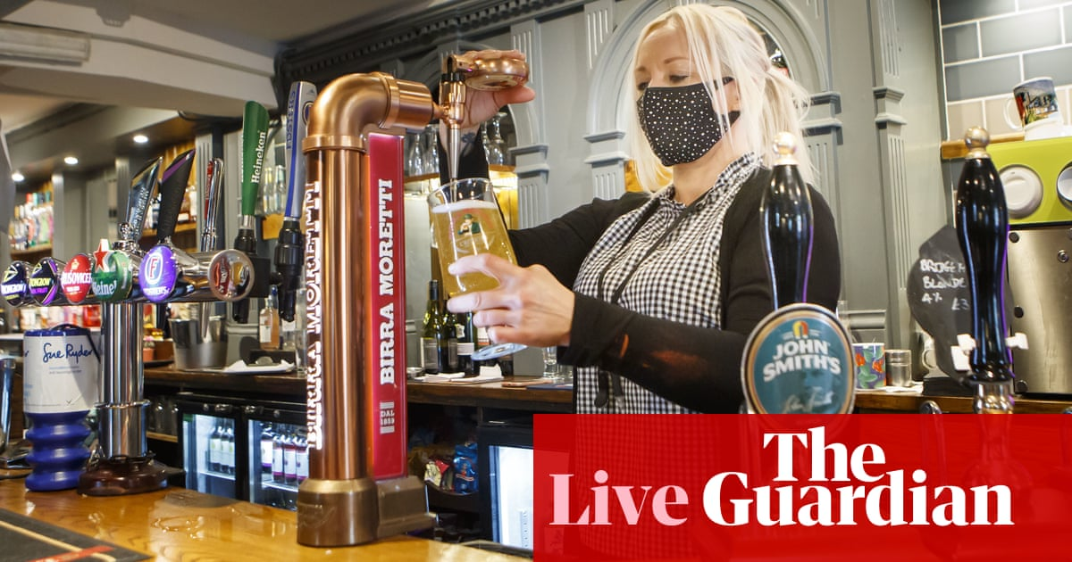 UK Covid live news: backlash over plan to have pub landlords check Covid status