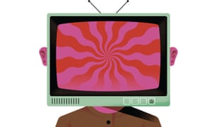 Illustration of TV on a person's shoulders