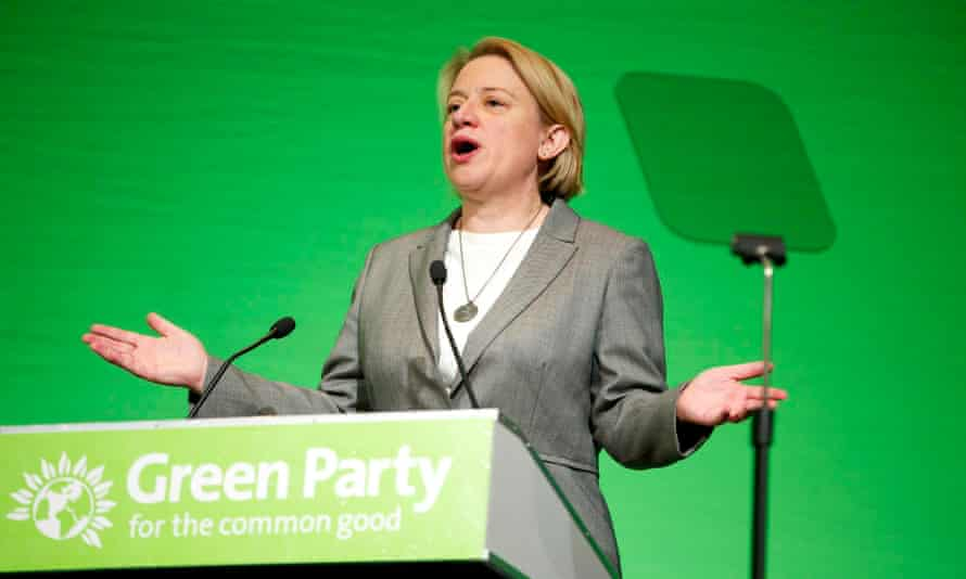 Natalie Bennett addresses the Green party spring conference in Liverpool.