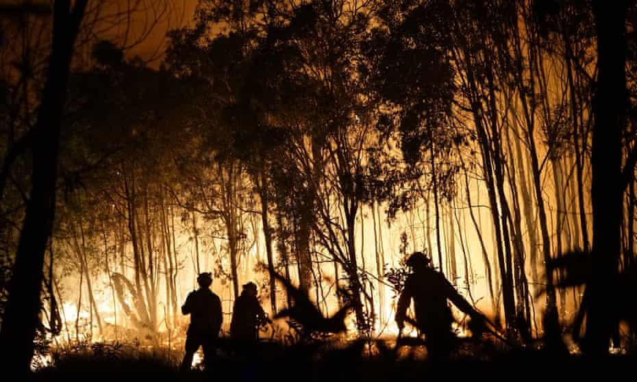 Firefighters battle a blaze in Queensland in November