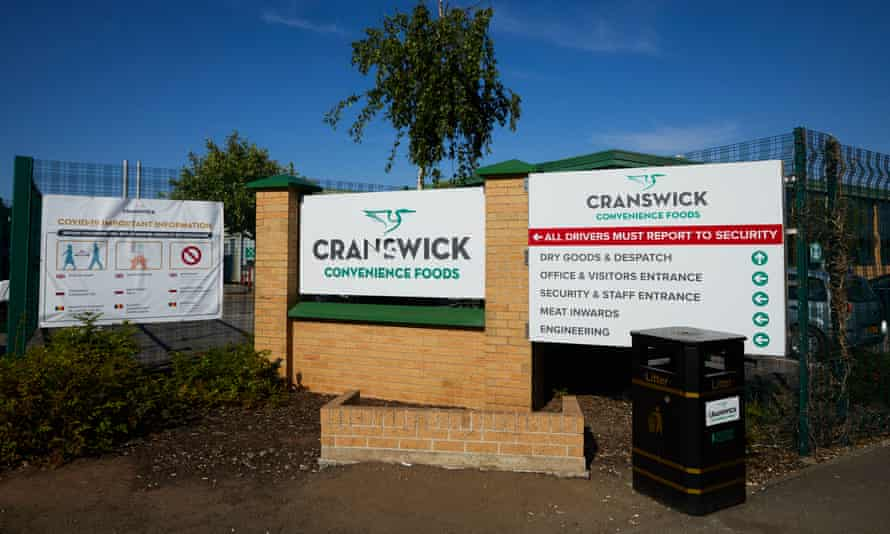 The Cranswick Convenience Foods processing plant at Wombwell, South Yorkshire.