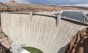 Glen Canyon dam, north of the rural city of Page, Arizona drought