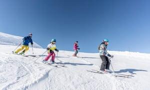 Kids on the slopes at La Rosiere ski resort