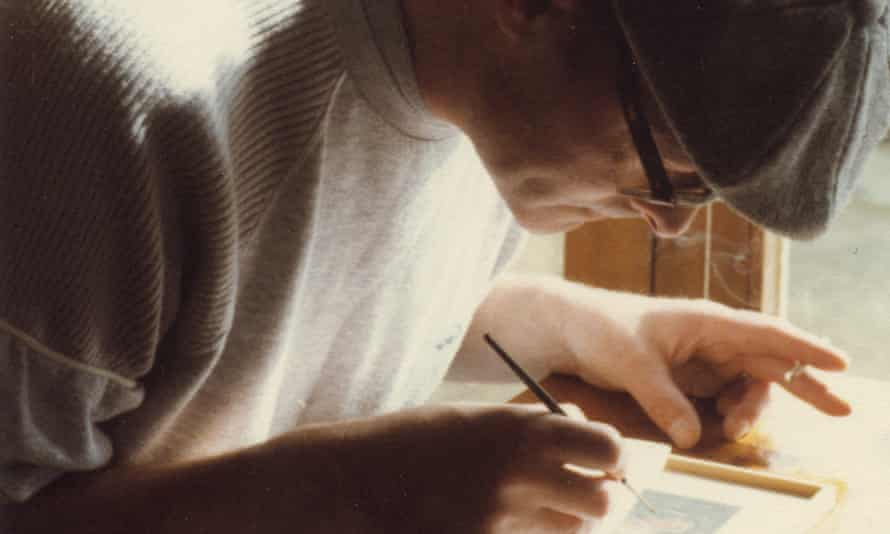 Jeff Johnson, 'the greatest miniaturist that Britain produced in the 20th century', at work in 1979
