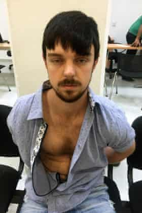 Ethan Couch after his arrest in Puerto Vallarta, Mexico