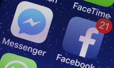 A Facebook app icon