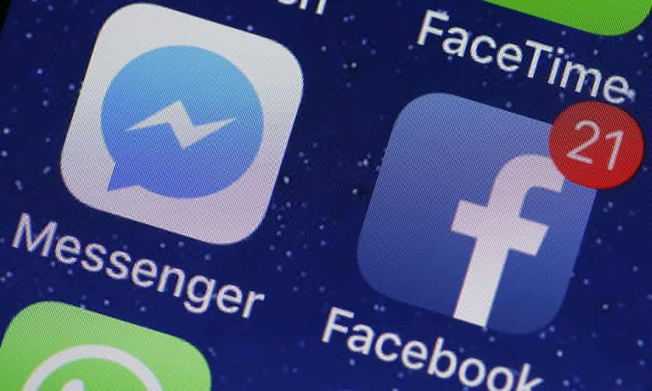 Facebook icon on mobile