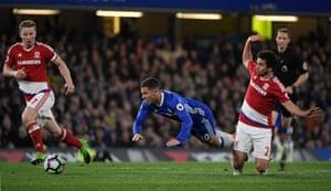 Fabio takes out Eden Hazard.