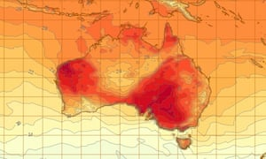 Weather map, Australia